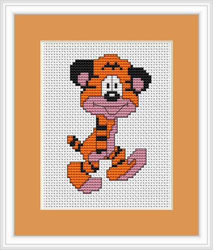 Tiger Mini Cross Stitch Kit By Luca S