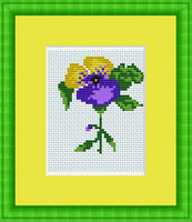 Violet Mini Cross Stitch Kit By Luca S