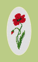 Poppy Mini Cross Stitch Kit By Luca S