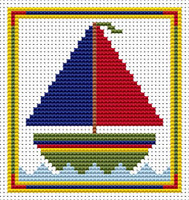 Sew Simple Yacht Cross Stitch Kit