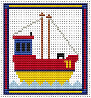 Sew Simple Fishing Boat Cross Stitch Kit