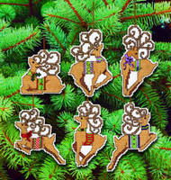 Fancy Deer Ornaments Cross Stitch Kit By Janlynn