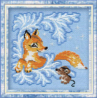 Fox Cub Cross Stitch Kit