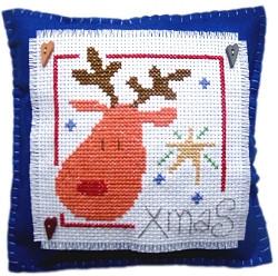 Rudolph Cushion Cross Stitch Kit