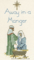 Away In A Manger Card Cross Stitch Kit
