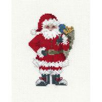 Santa Sack Card Cross Stitch Kit