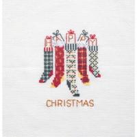Christmas Stocking Card Cross Stitch Kit