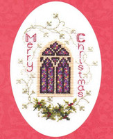 Stained Glass Window Card Cross Stitch Kit
