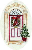 Christmas Door Card Cross Stitch Kit