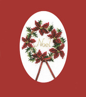Christmas Wreath Card Cross Stitch Kit
