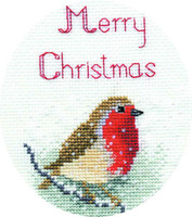 Snow Robin Card Cross Stitch Kit