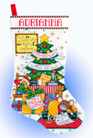 Sleepy Mouse Stocking Cross Stitch Kit By Design Works