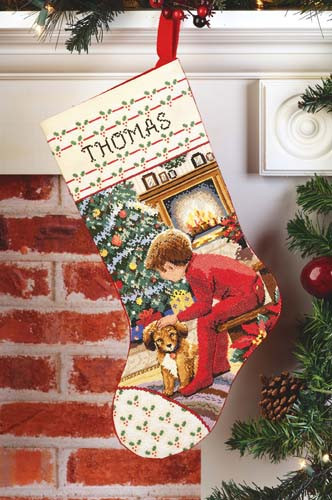 Waiting For Santa Stocking Cross Stitch Kit By Janlynn
