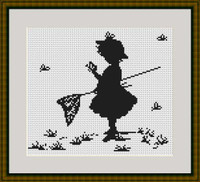 Girl With Butterflies Cross Stitch Kit By Luca S