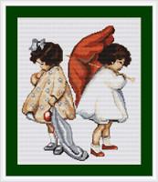 Girls Upset Cross Stitch Kit By Luca S
