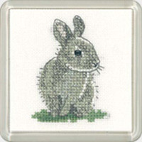 Baby Rabbit Square Coaster Cross Stitch Kit