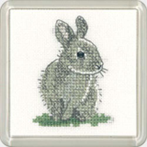 Baby Rabbit Square Coaster Cross Stitch Kit