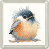 Chickadee Coaster Cross Stitch Kit