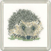 Hedgehog Coaster Cross Stitch Kit