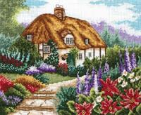 Cottage Garden In Bloom Cross Stitch Kit