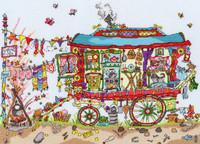 Cut Thru Gypsy Wagon Cross Stitch Kit