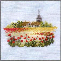 Minuets Poppy Fields Cross Stitch Kit On Linen