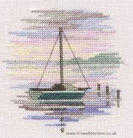 Minuets Sailing Boat Cross Stitch Kit On Linen