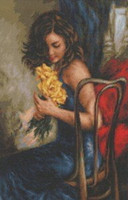 Yellow Roses Cross Stitch Kit By  Luca S