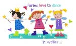 Fairies In Wellies Cross Stitch Kit By Stitching Shed
