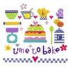 Time To Bake Cross Stitch Kit By Stitching Shed