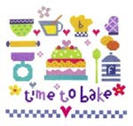 Time To Bake Cross Stitch Kit By Stitching Shed