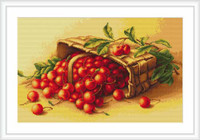 Basket Of Cherries Cross Stitch Kit By Luca S