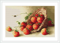 Basket Of Strawberries Cross Stitch Kit By Luca S
