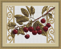 Cherries On White Cross Stitch Kit By Luca S