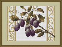 Plums On White Cross Stitch Kit By Luca S