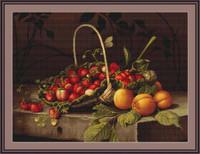 Strawberry & Pear Basket Cross Stitch Kit By Luca S