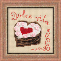 Heart Cake Cross Stitch Kit