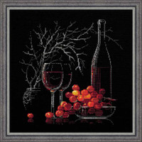 Still Life With Red Wine Cross Stitch Kit