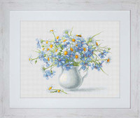 Cornflowers & Camomiles Cross Stitch Kit By Luca S