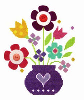 Bouquet Cross Stitch Kit By Stitching Shed
