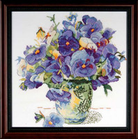 Pansy Floral Cross Stitch Kit  By Design Works