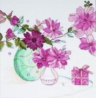 Pastel Floral Cross Stitch Kit By Design Works