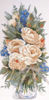 White Roses Cross Stitch Kit By Design Works