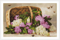 Basket Of Lilacs Cross Stitch Kit By Luca S