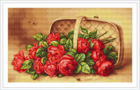 Basket Of Roses Cross Stitch Kit By Luca S