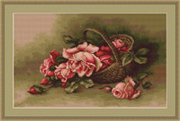 Basket With Flowers Cross Stitch Kit By Luca S