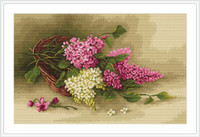 Basket With Lilac Cross Stitch Kit By Luca S