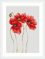 Four Poppies Cross Stitch Kit By Luca S