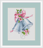 Pink Bells Cross Stitch Kit By Luca S