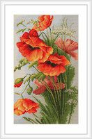 Red Poppies Cross Stitch Kit By Luca S